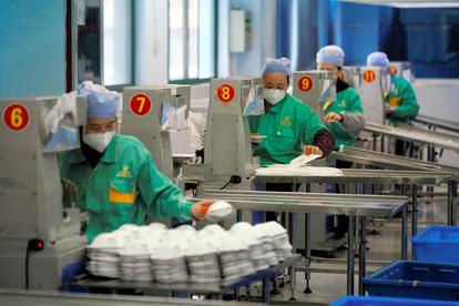 中国 マスク 工場