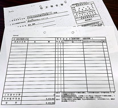 報告 書 政治 資金 収支