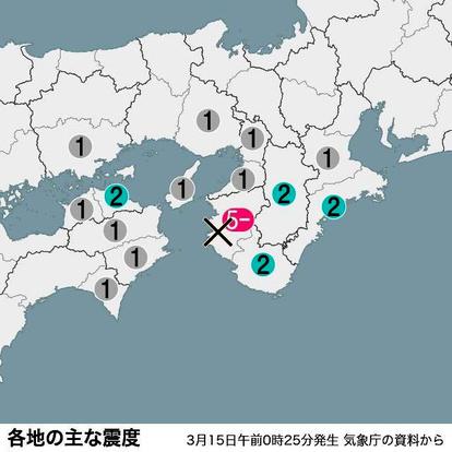 地震 和歌山 市 和歌山地方気象台
