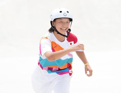 13歳・西矢椛、スケボー女子ストリートで金 日本史上最年少メダル - 一般スポーツ,テニス,バスケット,ラグビー,アメフット,格闘技,陸上 [スケートボード]:朝日新聞デジタル
