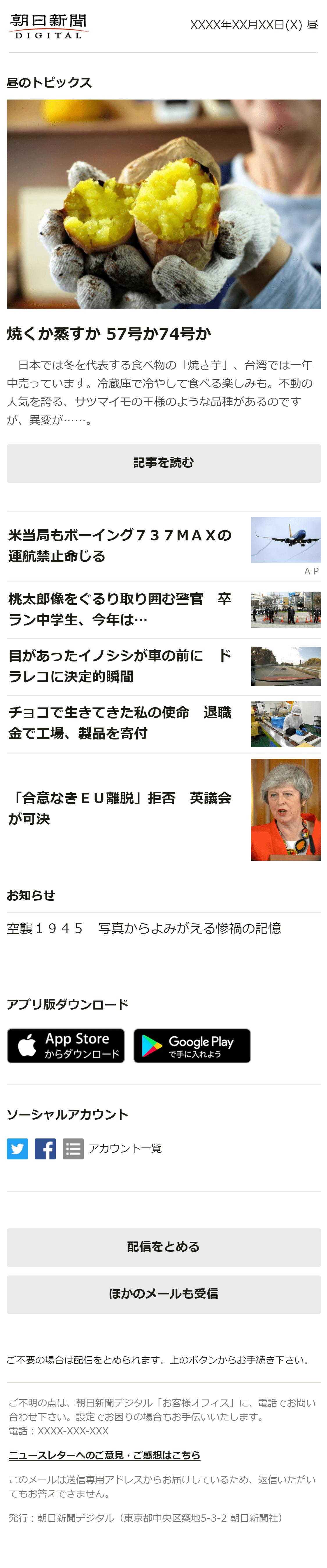 ニュースレター[昼]のサンプル