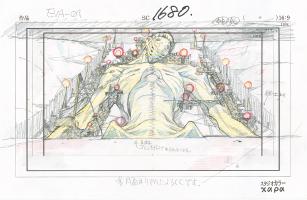「:序」C-1680  レイアウト兼設定(貞本義行)「エヴァンゲリオン展」(c)カラー
