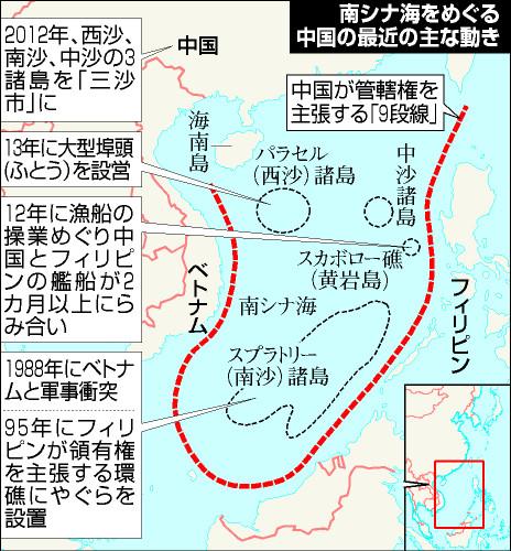 南シナ海をめぐる中国の最近の主な動き