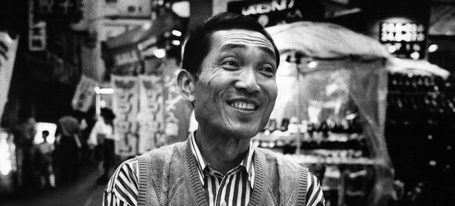 赤瀬川原平さん、1992年8月、東京・池袋