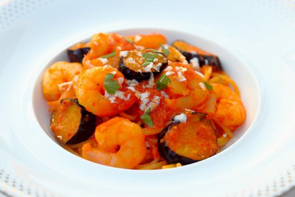 少し辛口、でも胃にもたれず 秋ナスが主役のスパゲティ