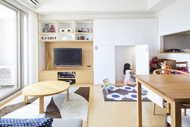 こだわりの収納と、家族それぞれの空間つくり