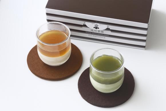 甘さ控えめ、味わい濃厚 茶の香りが立つ上品プリン