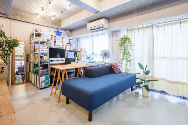 36.5平米、建築家夫婦のワンルーム