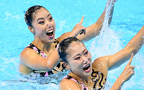 マーメイドの競演 世界水泳・アーティスティックスイミング