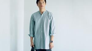 新時代の仕事着に活用したい上質なバンドカラーシャツ