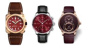 ファッションを個性的に演出する赤い文字盤の腕時計