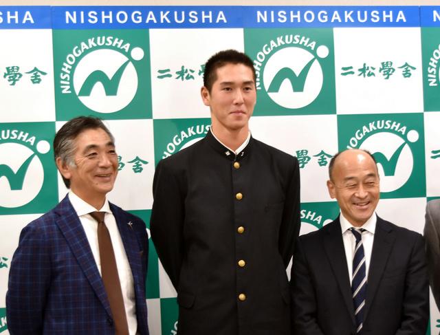 二松学舎大付の秋広選手が巨人の5位指名 ドラフト会議   バーチャル ...
