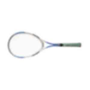 テニスラケット/グリップの一部ははがれているが、ガットはピンとはっている