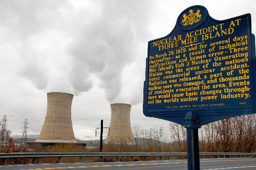 スリーマイル島原発は現在も稼働中=米ペンシルベニア州ミドルタウン