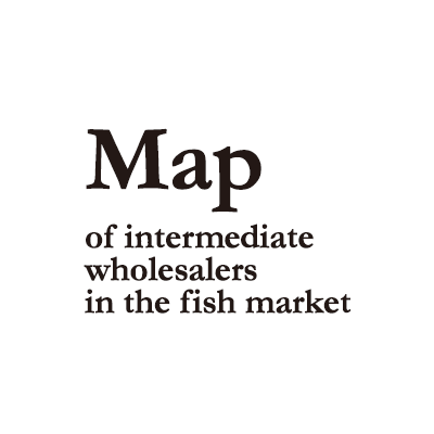 Map of intermediate wholesalers in the fish market