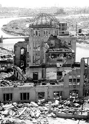45年8月6日 米国が広島に原爆投下
