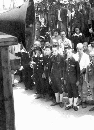 45年8月15日 戦争終結の玉音放送