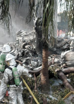 04年8月 沖縄県宜野湾市で米軍ヘリ墜落