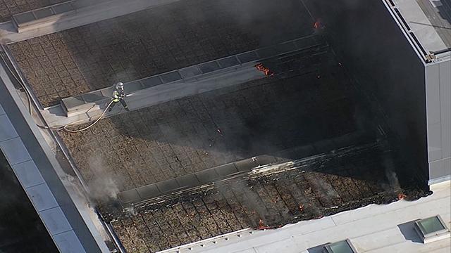 動画シマノ本社工場で火災、200人避難 堺